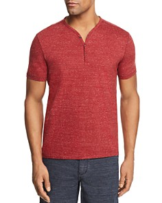 John Varvatos Star USA Heathered Short Sleeve Henley - Bloomingdale's_0
