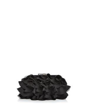 CHIFFON RUFFLE CLUTCH - 100% EXCLUSIVE