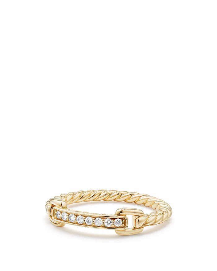 David Yurman - Petite Pavé Ring with Diamonds in 18K Gold