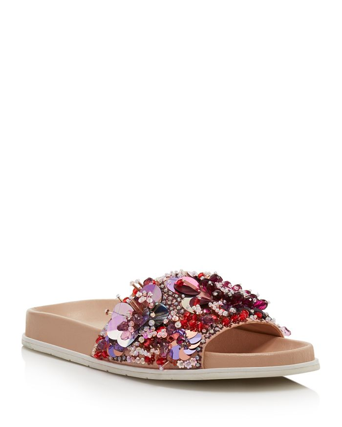 53bce2c34c66 Kenneth Cole Women s Xenia Sequin-Embellished Pool Slide Sandals ...