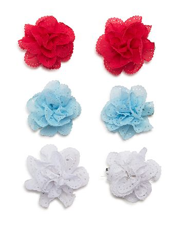 Capelli - Girls' Floral Hair Clips, Set of 6