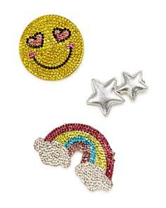 Capelli Girls' Embellished Emoji Hair Clips, Set of 3 - Bloomingdale's_0