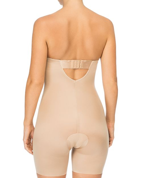 Spanx Reg Suit Your Fancy Strapless Convertible Underwire Mid Thigh Bodysuit