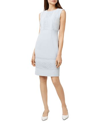 HOBBS LONDON - Evadine Appliquéd Sheath Dress