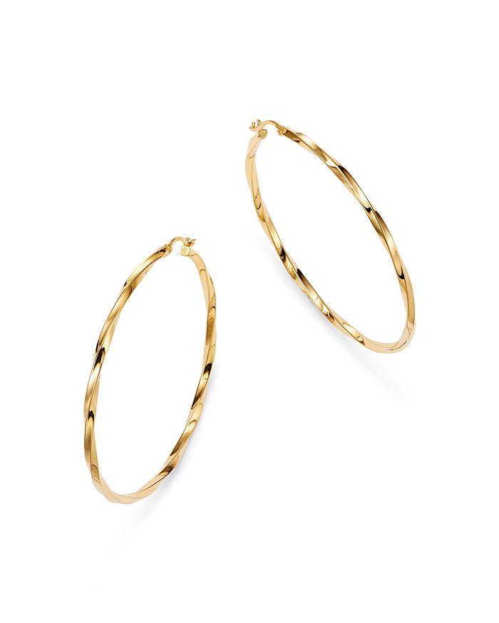 Moon & Meadow - Twisted Hoop Earrings in 14K Yellow Gold - 100% Exclusive