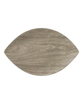 Merritt - Heartwood Leaf Melamine Serving Tray