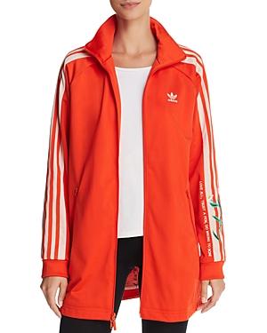 adidas Originals Embroidered Long Track Jacket