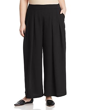Eileen Fisher Plus Pleated Wide-Leg Pants