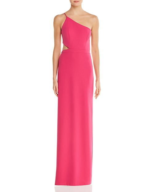 Aidan by Aidan Mattox One-Shoulder Cutout Gown - 100% Exclusive ...