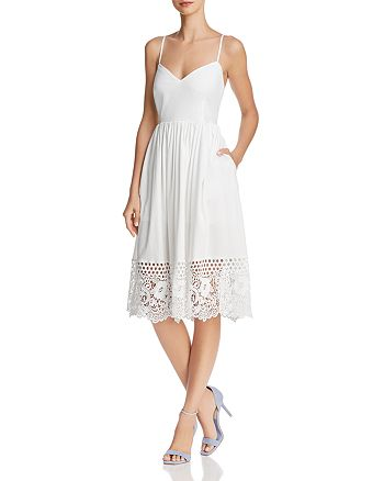 FRENCH CONNECTION - Salerno Lace-Hem Dress