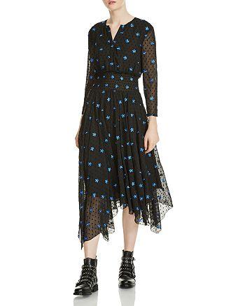 42bfce7c77 Maje - Raiette Floral Embroidered Midi Dress