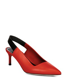 Via Spiga - Women's Blake Leather Slingback Kitten Heel Pumps
