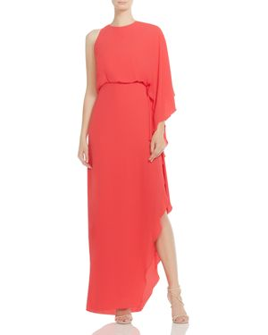 Halston Heritage One-Sleeve Cowl-Back Maxi Dress 2881762