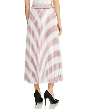 Maje - Joro Pleated Striped Skirt
