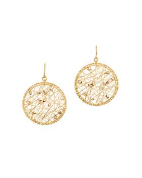 Bloomingdale's - Beaded Circle Drop Earrings in 14K White & Yellow Gold - 100% Exclusive