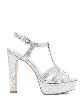 MICHAEL Michael Kors - Women's Catalina Glitter T-Strap Platform Sandals