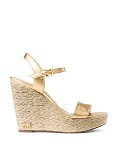 MICHAEL Michael Kors - Women's Jill Leather Espadrille Platform Wedge Sandals