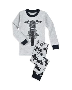 Sara's Prints Boys' Motorcycle Pajama Shirt & Pants Set - Little Kid 2888762