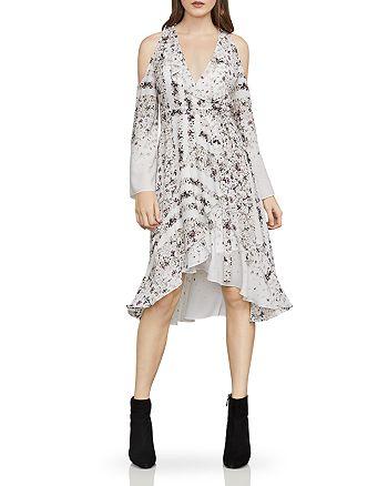 BCBGMAXAZRIA - Leeam Cold-Shoulder Wrap Dress