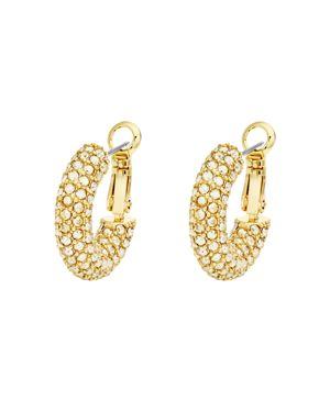 ATELIER SWAROVSKI X Christopher Kane Bolster Small Hoop Earrings in Gold