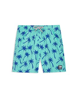 TOM & TEDDY - Boys' Palm Tree Swim Trunks - Little Kid, Big Kid