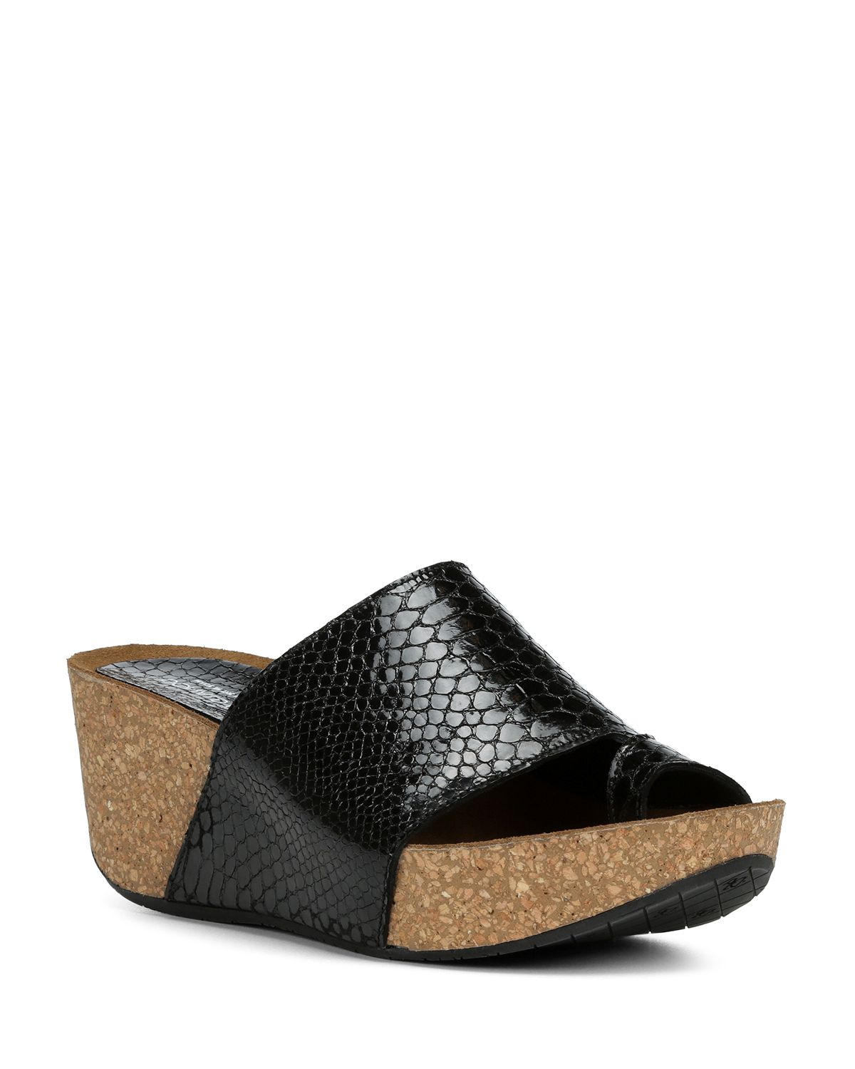 Donald Pliner Women's Ginie Embossed Leather Platform Wedge Sandals