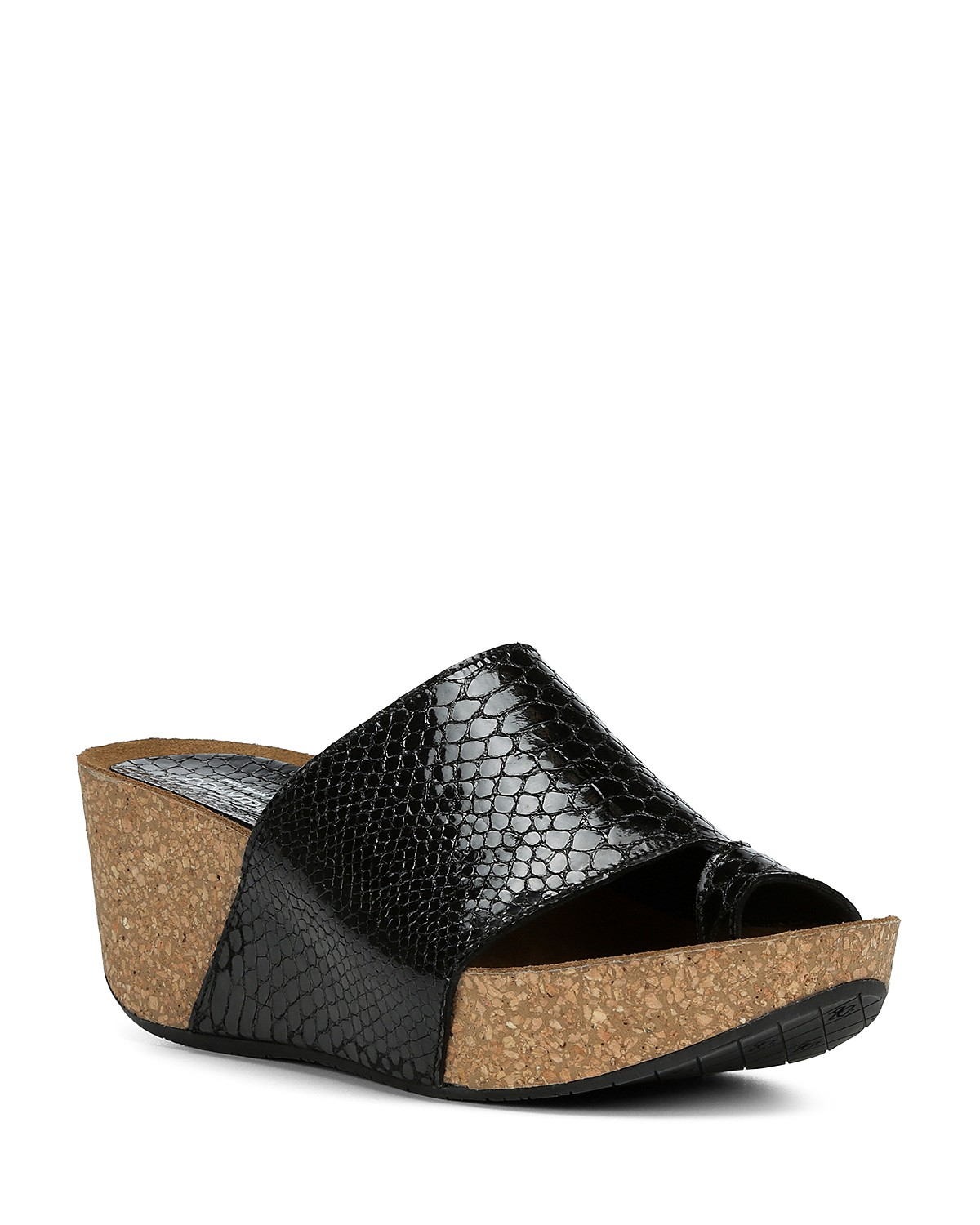 Donald Pliner Women's Ginie Embossed Leather Platform Wedge Sandals YNjQzfcj