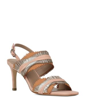 WOMEN'S KIT MIXED LEATHER SLINGBACK SANDALS