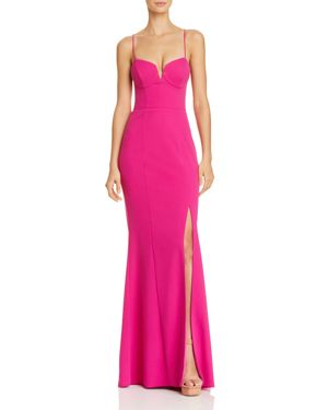 BARIANO Corseted Mermaid Gown - 100% Exclusive in Bright Pink