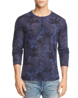 Atm Anthony Thomas Melillo Camouflage Long Sleeve Henley Shirt - 100% Exclusive