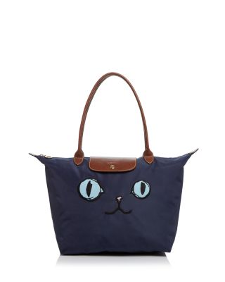 Le Pliage Miaou Large Nylon Shoulder Tote by Longchamp