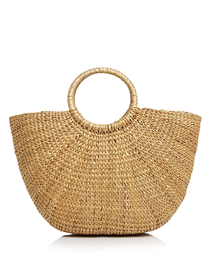 remi & reid Ring Handle Straw Tote