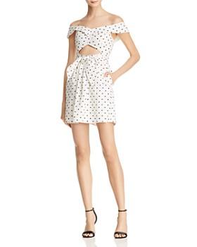 WAYF - Capri Off-the-Shoulder Cutout Mini Dress