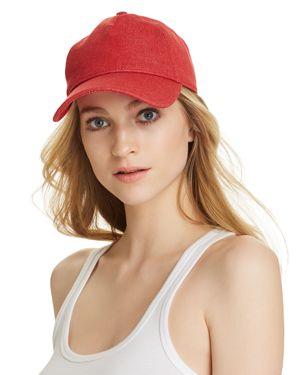 Marilyn Baseball Cap - Red in Bright Rose