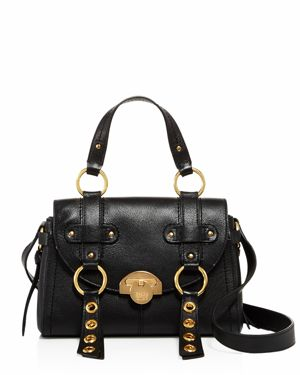 See By Chloe Allen Leather Crossbody, Black/Gold