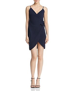Aqua Faux-Wrap Dress - 100% Exclusive