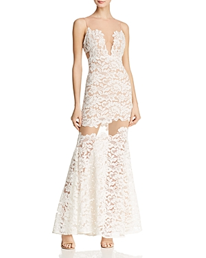 Bcbgmaxazria Illusion Lace Gown