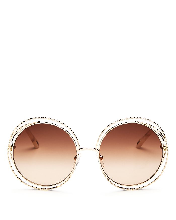 be666f1844ba Chloé - Women s Carlina Torsade Oversized Round Sunglasses