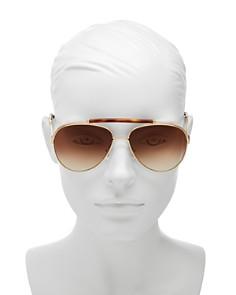 Chloé - Women's Jackie Brow Bar Aviator Sunglasses, 60mm