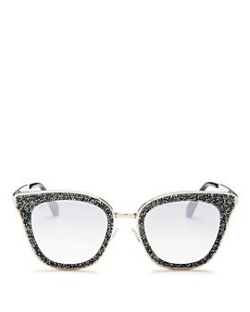 Jimmy Choo - Women's Lizzy Glitter Cat Eye Sunglasses, 50mm