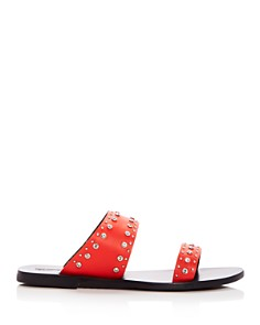 Sol Sana - Women's Starlight Embellished Leather Slide Sandals