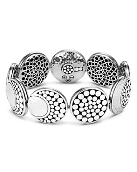 John Hardy - Sterling Silver Dot Hammered Moon Bracelet