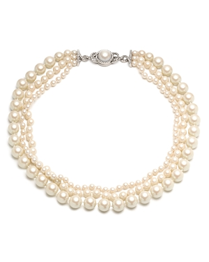 Carolee Three-Strand Simulated Pearl Necklace