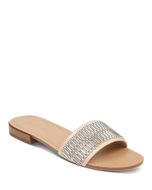 KENDALL AND KYLIE WOMEN'S KENNEDY EMBELLISHED PATENT LEATHER SLIDE SANDALS