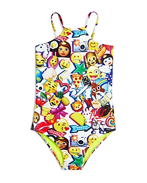 Terez Girls' Emoji-Print Swimsuit - Little Kid, Big Kid