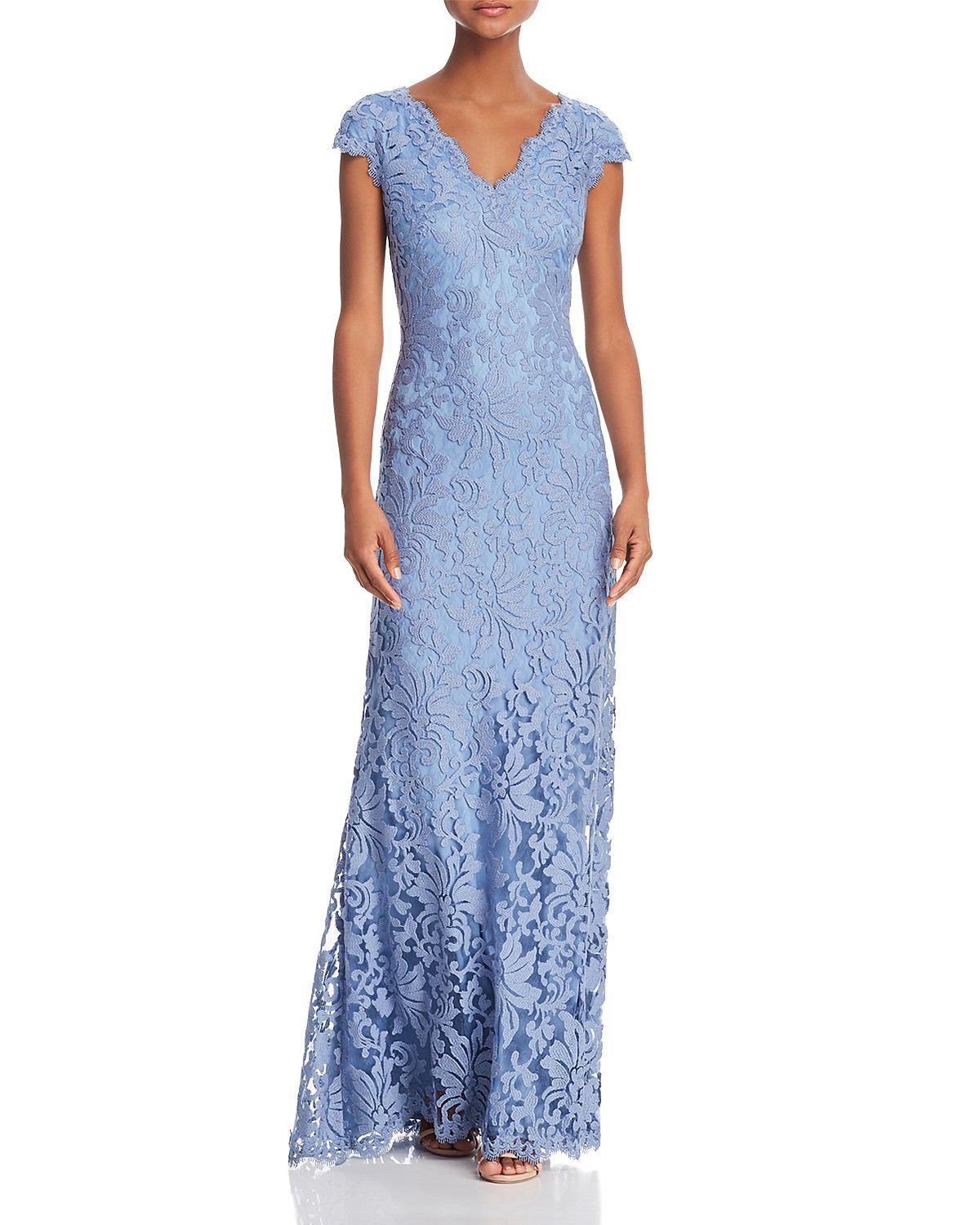 Tadashi Shoji Illusion Lace Gown- 100% EXCLUSIVE | Bloomingdale\'s