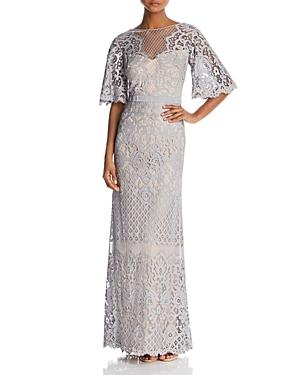 Vintage Dresses Australia- 20s, 30s, 40s, 50s, 60s, 70s Tadashi Shoji Latticework Lace Gown AUD 719.10 AT vintagedancer.com