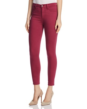 J Brand - Alana Sateen Skinny Jeans in Deep Plum - 100% Exclusive