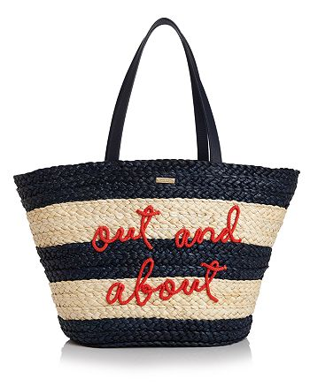 kate spade new york - Out & About Straw Tote