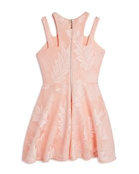 Miss Behave - Girls' Adrianna Embroidered Mesh Dress - Big Kid